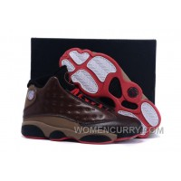Mens Air Jordan 13 Cigar Custom By Damien Brown Black Red For Sale Christmas Deals PiBF2by