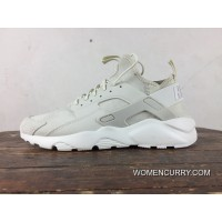 New Release Nike Air Huarache Four 4 Texture Pig Leather Series Ultra Id Custom-Made Cream-Colored 829669-665