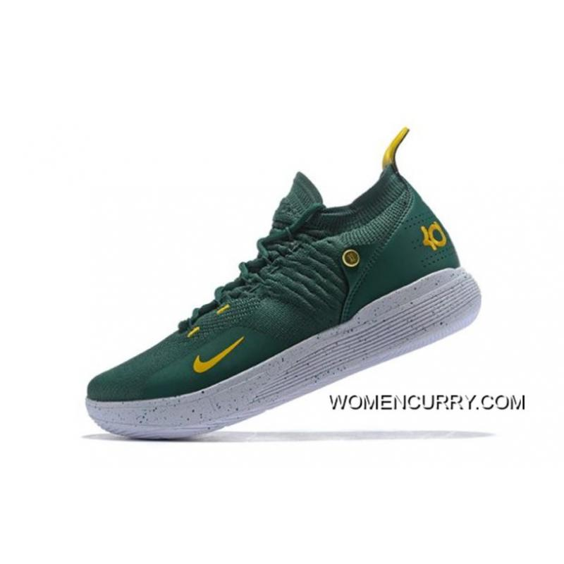 b5d8a5415d5 Authentic New Nike KD 11 Army Green White-Metallic Gold