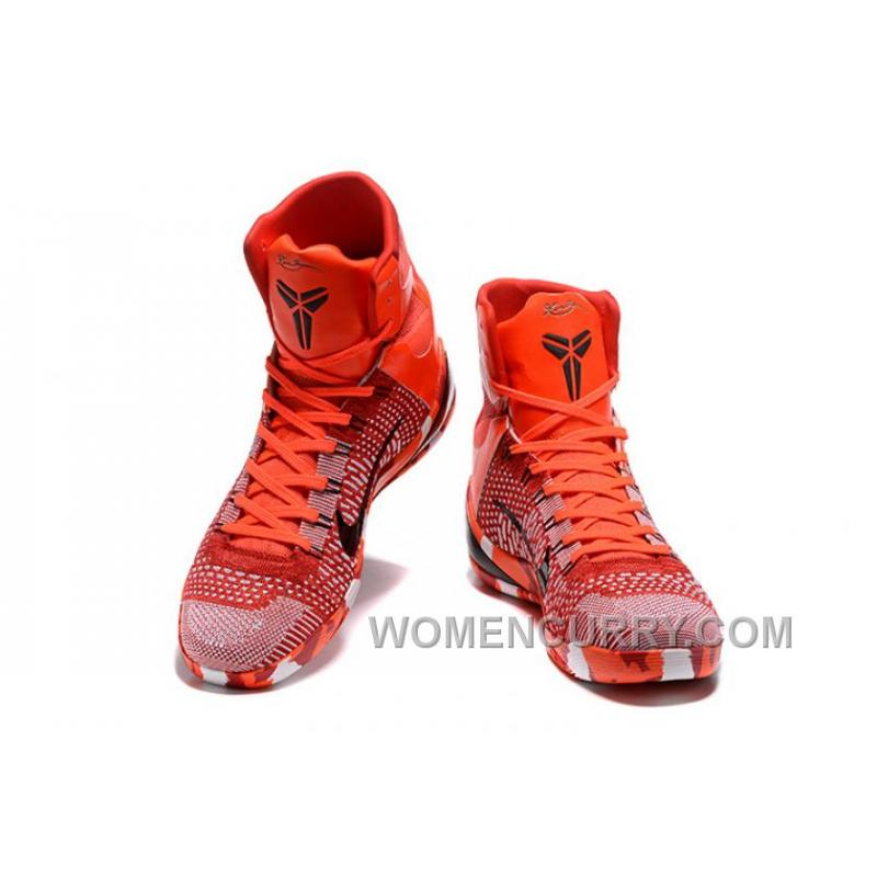 Nike Kobe 9 High Woven Christmas Red 2017 Men Shoes New Style, Price ...