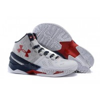 Under Armour Curry 2 USA White-Red/Navy Blue For Sale New Release