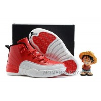 """2017 Kids Air Jordan 12 """"Gym Red"""" Basketball Shoes Authentic 6scJG"""