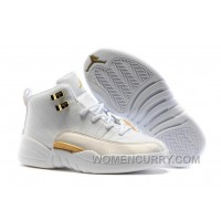 """2017 Kids Air Jordan 12 """"OVO White"""" Basketball Shoes Authentic YsF4s3"""