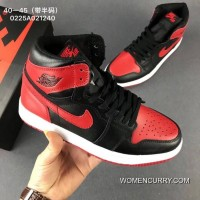 Nike AIR JORDAN 1 Series 1 Also Shoes Action Leather Upper Hard Rubber Outsole Red And Black New Style