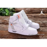 Free Shipping Jordan UNC Air 1 X OFF-WHITE AJ1 Joint Publishing