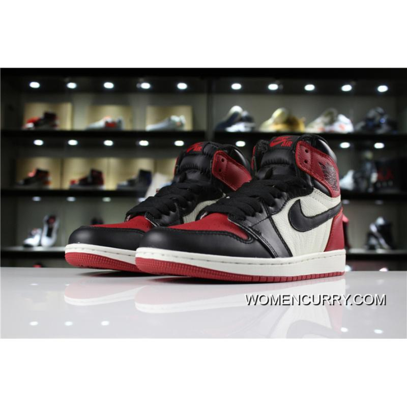 Top Deals Air Jordan 1 Black Red Toes fa749089f43a