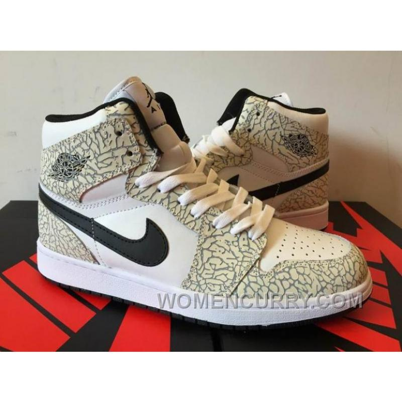Mens Air Jordan 1 High White Elephant 2017 For Sale Christmas Deals  8HS5DF8
