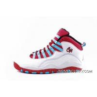 Air Jordan 10 'Chicago Flag' White/Light Crimson-University Blue-Black New Release