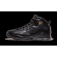 Air Jordan 10 Retro 'NYC' Black/Black-Dark Grey-Metallic Gold Best