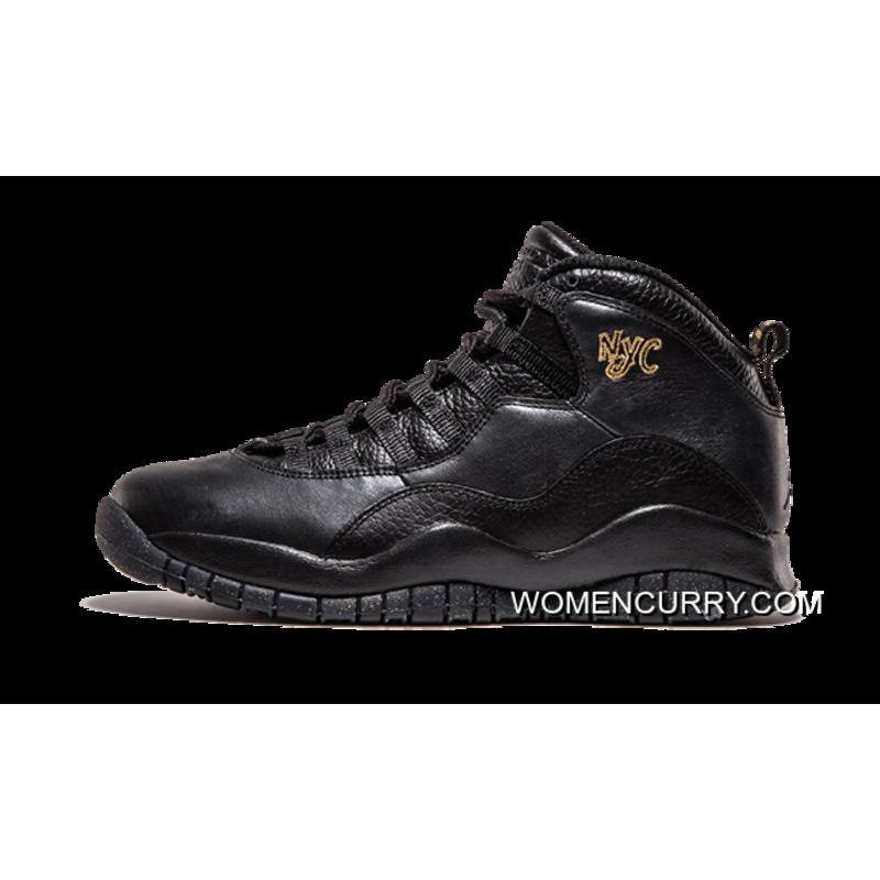 7497c8c5f0ef51 Air Jordan 10 Retro  NYC  Black Black-Dark Grey-Metallic Gold Best ...