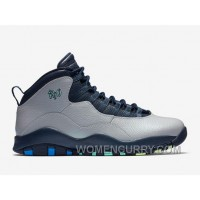 "2017 Mens Air Jordan 10 ""Rio"" Wolf Grey/Photo Blue-Obsidian-Green Glow For Sale Top Deals Jdy7as"