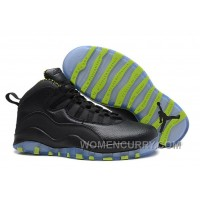 Mens Air Jordan 10 Retro Black-Grey/Venom Green For Sale Christmas Deals F6D3my