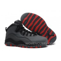 Mens Air Jordan 10 Retro Cool Grey/Infrared-Black For Sale Authentic NiPM7E