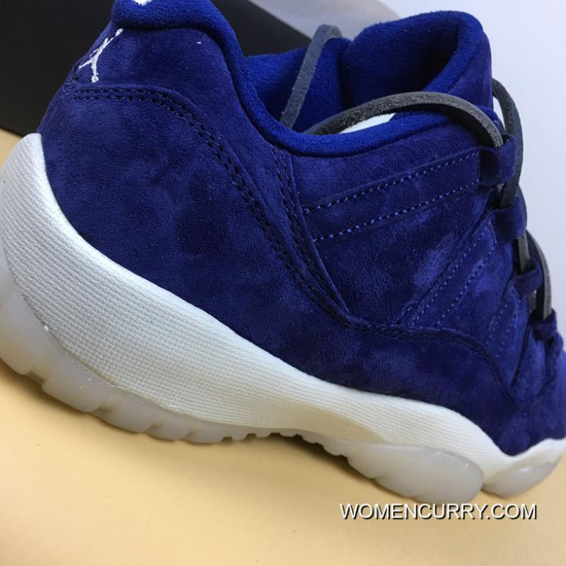 low priced 902e9 78e96 Free Shipping Air Jordan 11 Navy Blue Suede Low RE2PECT AV2187-441