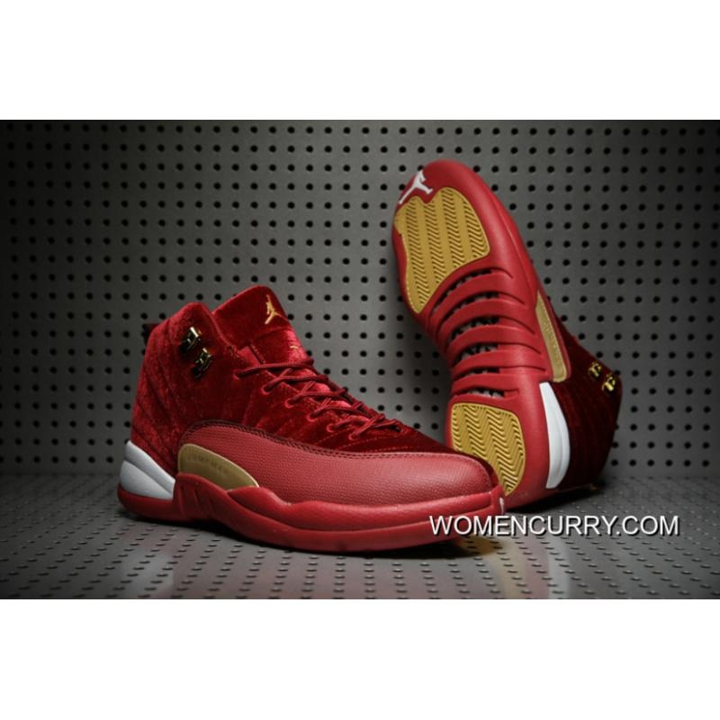 f904fbd8d85 ... promo code cheap air jordan 12 xii red velvet gold for sale 3d53b c8241