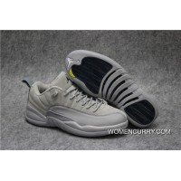 'Georgetown' Air Jordan 12 Low Wolf Grey/Armory Navy Super Deals