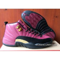 New Air Jordan 12 Pink Black Gold PE Cheap To Buy