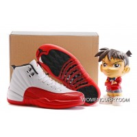 """Cherry"" Air Jordan 12 Gym Red-Dark/white Super Deals"