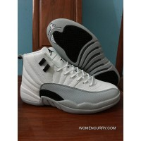 Air Jordan 12 White Grey-Black/ White New Style