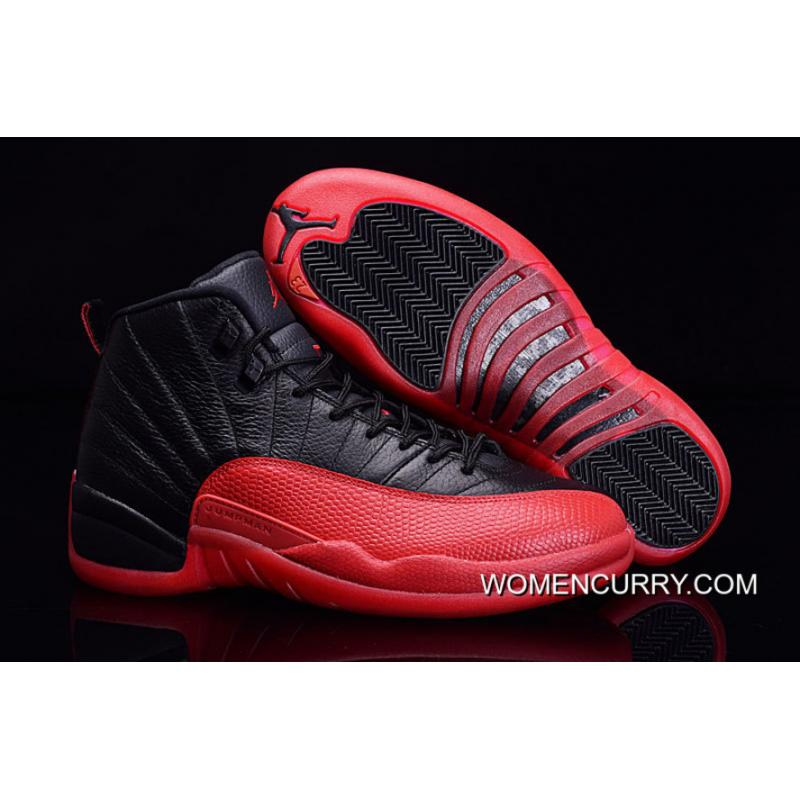 newest f4253 4563f Outlet Air Jordan 12 Black Red Aj12 Black Red Carbon No 124232