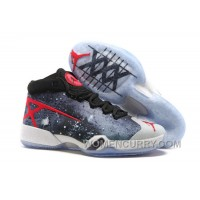 Cheap To Buy Mens Air Jordan 30 XXX JBC Galaxy Black-Grey-Red For Sale 4eccDJn