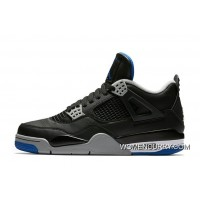 'Alternate Motorsport' Air Jordan 4 Black/Game Royal-Matte Silver-White Super Deals