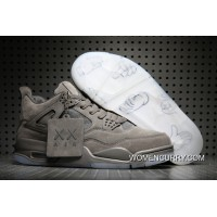 KAWS X Air Jordan 4 Cool Grey/White New Style