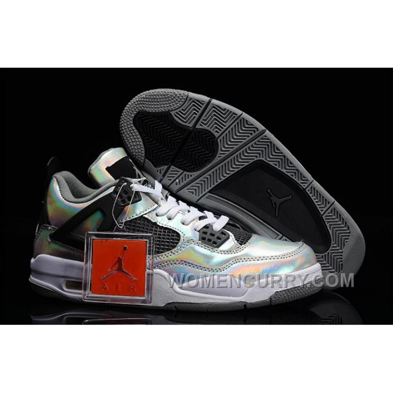"Mens Air Jordan 4 ""Prism"" Metallic Silver Black-White For Sale ... d479023571"