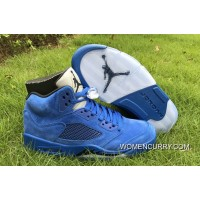 "New Air Jordan 5 ""Blue Suede"" Game Royal/Black For Sale"