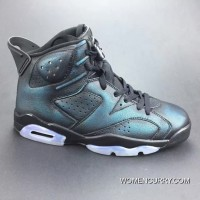 "744c9c9127081d ""Chameleon"" Air Jordan 6 Black Metallic Silver-Black New Release. """