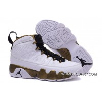 'Copper Statue' Air Jordan 9 White/Black-Militia Green Lastest