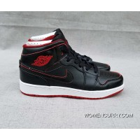 """Lance Mountain"" Air Jordan 1 GS Mid Black/Black-White-Gym Red Lastest"
