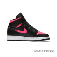 New Air Jordan 1 GS Black/Hyper Pink-Anthracite For Sale