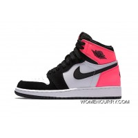 """Valentines Day"" Air Jordan 1 Retro High OG GS Black/Black-Hyper Pink-White New Style"