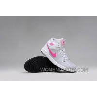 2017 Girls Air Jordan 1 Grey Pink White Shoes Free Shipping