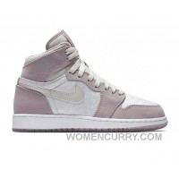 "2017 Girls Air Jordan 1 High ""Plum Fog"" Super Deals"