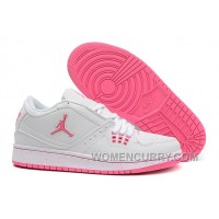 Girls Air Jordan 1 Low GS White Pink For Sale Cheap To Buy NRiEJGw