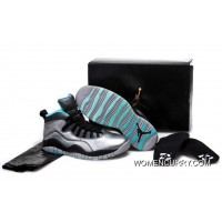 """Lady Liberty"" Air Jordan 10 GS Cement Grey/Black Lastest"
