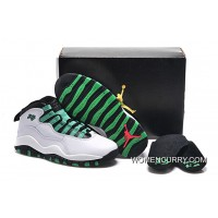 'Verde Green' Air Jordan 10 White/Verde-Black-Infrared23 Copuon Code