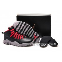 "Girls Air Jordan 10 ""PSNY"" X Public School Black-Grey/Gym Red Online RRmZwGR"