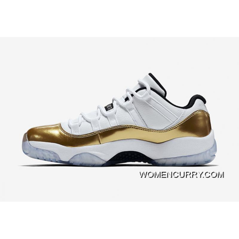premium selection 3d565 617a3 'Closing Ceremony' Air Jordan 11 Low White/Metallic Gold Coin-Black Free  Shipping
