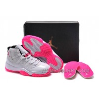 2017 Girls Air Jordan 11 White Pink Shoes For Sale Super Deals