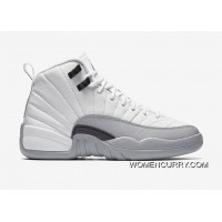 "Air Jordan 12 ""Barons""-Wolf Grey/White - Release New Style"