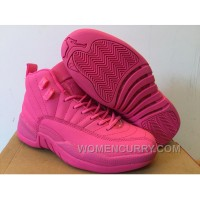 Girls Air Jordan 12 All Pink Shoes For Sale Authentic 23it8Kp