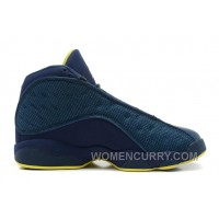 Air Jordan 13 Squadron Blue/Electric Yellow-Black For Sale YMBsNeZ