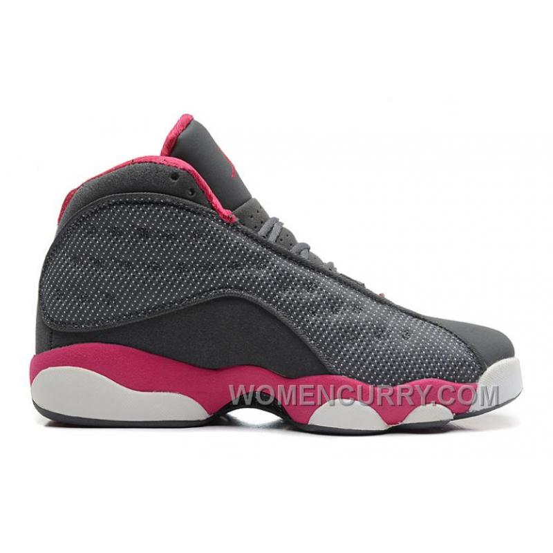 5a91679b4ea Girls Air Jordan 13 Cool Grey/Fusion Pink-White For Sale Christmas Deals  2X6aG