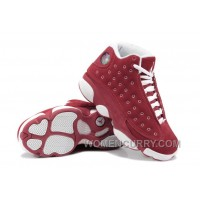 Girls Air Jordan 13 Suede Red White For Sale Top Deals W2D372