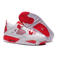 "Air Jordan 4 ""Melo"" PE White Red For Sale Free Shipping BjWmpZk"