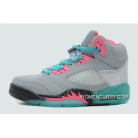 """Miami Vice"" Air Jordan 5 GS Grey/Teal-Pink Discount"