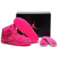 2017 Girls Air Jordan 5 All-Pink Shoes For Sale GCwkAGs